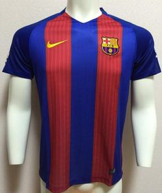 2016-17 Barcelona Home Thaiand Short Sleeves Soccer Jersey