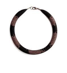 U-Boutique Shops   Brown & Black necklace   Handmade necklace   Women's Jewelry   Statement Jewelry   Unique Jewelry   tami peretz