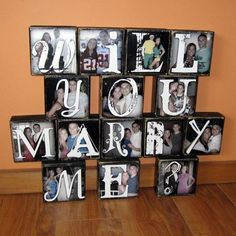 A memorable and long-lasting proposal idea - she will never forget this. a proposal you can keep:)