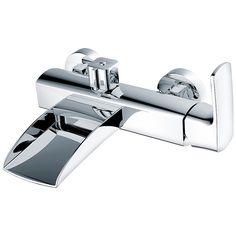 Cascade Spout Brass Bath Mixer Bath Mixer, Waterfall Faucet, Chrome, Bathtub, Brass, Ceramics, Bathroom, Standing Bath, Ceramica