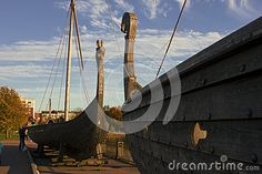 Somewhere in Vyborg. Leningrad region. Castles of Vikings on the embankment as the mighty ships of antiquity.