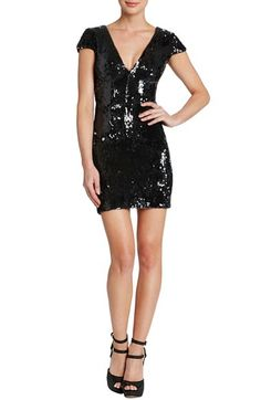 Dress the Population 'Zoe' Sequin V-Neck Body-Con Dress (Nordstrom Exclusive) available at #Nordstrom