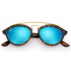 5fefe9c732575 Óculos de Sol Ray Ban New Gatsby Tartaruga com Lente Azul Confira! Oculos  De Sol