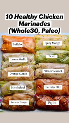 Healthy Chicken Recipes, Paleo Recipes, Cooking Recipes, Donut Recipes, Easy To Cook Meals, Easy Cooking, Freezer Meals, Chicken Marinades, Intuitive Eating