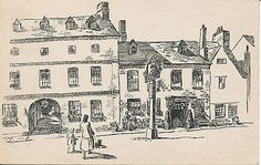 #Pc37499 the bear hotel. woodstock. drawing. #macnab. samson #press. 1949,  View more on the LINK: http://www.zeppy.io/product/gb/2/262302682911/