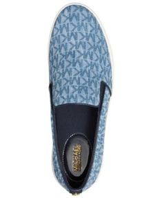 6c0e8b4f768b Michael Michael Kors Trent Slip-On Sneakers - Blue 5M