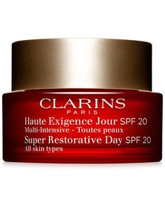 Clarins Super Restorative Day Cream with SPF oz. Anti Aging Moisturizer, Moisturizer With Spf, Priming Moisturizer, Anti Aging Night Cream, Perfume, Hormonal Changes, Les Rides, Fragrance Parfum, Dry Skin