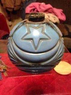 Lightning Rod Ball Moon and Stars Blue Milk Glass Antique Original Lightning Rod, Weather Vanes, Old World Charm, Bottles And Jars, Windmill, Milk Glass, Weights, Balls, Moon