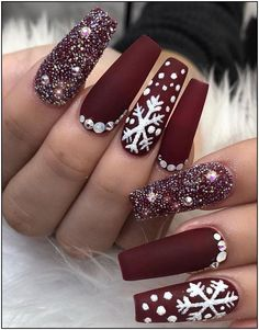 39 chic acrylic gel coffin nails design ideas acrylic nails nail beauty makeup Wondrous Winter Nail Design Ideas For 2020 – The Glossychic Design 63 Cute Nail Designs for Every Nail Length & Season: Cute Nails to Try 22 super easy nail art designs and … Cute Acrylic Nails, Glitter Nail Art, Acrylic Nail Designs, Cute Nails, Pretty Nails, Gold Nail, Gold Glitter, Xmas Nails, Holiday Nails