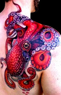 Amazing work. One of the better octopus tattoos I have seen.