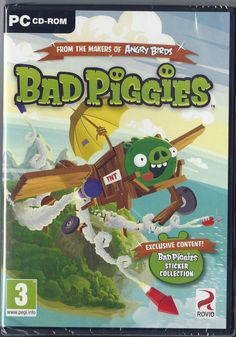 BAD PIGGIES ( from the makers of angry birds ) ( PC GAME ) (PC CD) BRAND NEW