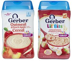 NEW Gerber Foods & Cereal Coupons! on http://hunt4freebies.com/coupons/