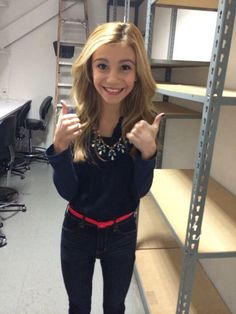 g hannelius love the hair makeup and outfit