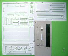 Polystyrol Modell Bausatz Abrollplattform Abrollmulde 1:32 Spur1 CNC gefräst (6)