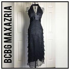 ✨BCBG MaxAzria Prom Dress✨ ✨Gorgeous Formal Silk Prom Dress By BCBG MaxAzria✨Fully Lined✨Halter Style ✨Size 0✨ BCBGMaxAzria Dresses Prom