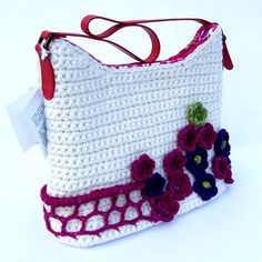 Aran Crochet Handbag Flower Fence Ella Bag  MELI by irishlace, $186.00