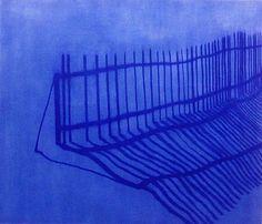 Isabel Bigelow - Works, Fence oil on panel