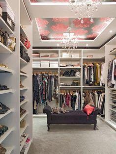 Interiores closet para mulheres 1