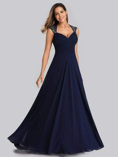 Ever-Pretty Cold Shoulder Appliques Bridesmaid Prom Dresses Holiday Prom Gown US