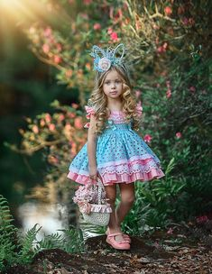 Easter Bunny by Irina Chernousova on - Cute Little Girl Dresses, Dresses Kids Girl, Cute Little Girls, Kids Outfits, Toddler Dress, Baby Dress, Toddler Fashion, Kids Fashion, Dollcake Dresses