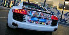 Audi-R8 sticker bomb
