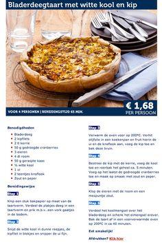 Bladerdeegtaart met witte kool en kip - Lidl Nederland vegetarisch: vevang de kip door een vleesvervanger.