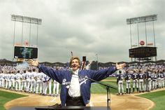 Opening day is Barry, Barry good to Dodgers - -It wasn't at the Copa and he didn't write the song, but Barry Manilow belted out the national anthem at Dodger Stadium in 2001.