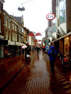 Rainy Street, Leiden, Netherlands - Furkl.Com