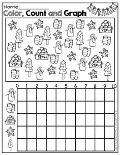 math worksheet : easter math  graphing missing number counting on  ten frames  : Christmas Math Worksheets For Kids