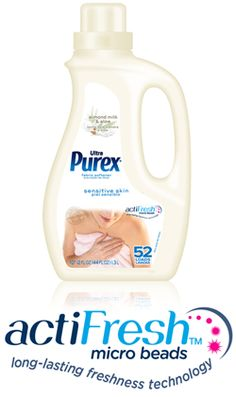 Ultra Purex Sensitive Skin Fabric Softener    For Clothes That Feel Soft on Even the Most Sensitive Skin.  ... Now with actiFresh!