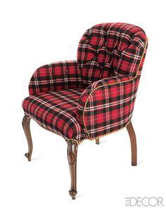 Tartan Plaid chair....love