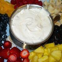 fruit salad wiggles fruit dip cream cheese