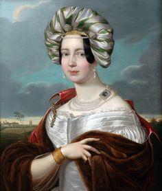 """""""Amalie von Württemberg, Herzogin von Sachsen-Altenburg"""" Heinrich Vogel, c. 1835"""