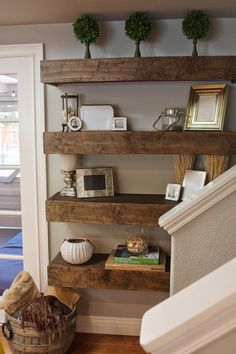 simple diy floating shelves tutorial decor ideas - Floating Shelves In Living Room