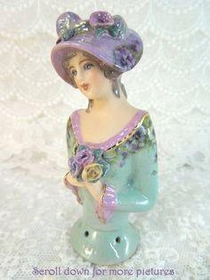 Porcelain Half Doll - Pincushion - Claudia