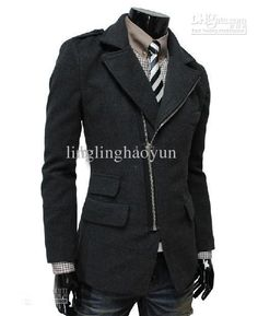 Casual Men's Style 2014 | Best 2014 New Casual Diagonal Zipper Men's Coat Slim Men's Jacket Men ...