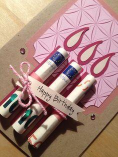 DIY Gifts And Wrap 2018 Trouvez-vous ça aussi banal d'offrir de l'argent ? Vous changerez d'avis après avoir vu ces 17 idées originales! Diy Birthday, Birthday Presents, Birthday Cards, Birthday Money, Happy Birthday, Cumpleaños Diy, Christmas Gift Wrapping, Wrapping Gifts, Gift Packaging
