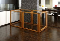 The Richell Convertible 20 inch tall Pet Gate with door in 4 panel or 6 panel wide sizes. Pet containment system is a room divider or pen.