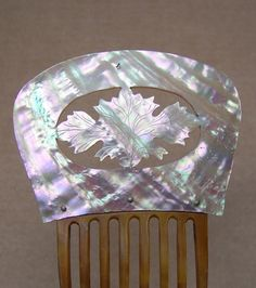 Victorian Hair Comb Mother of Pearl