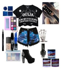 """""""Idk"""" by destoneyp ❤ liked on Polyvore featuring Killstar, Bambam, Anastasia Beverly Hills, Manic Panic NYC, Jeffrey Campbell, NARS Cosmetics and Givenchy"""