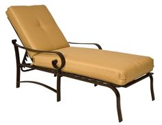 Design adjustable chaise cushions with black iron frame