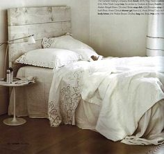 Inspiration: Rustic Headboard — Living Etc. May 2008 Home Bedroom, Bedroom Decor, Bedroom Ideas, Bedroom Furniture, Bedroom Inspo, Painted Furniture, Master Bedroom, Old Barn Wood, Salvaged Wood
