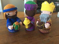 Crochet Three Wisemen (Nativity set)