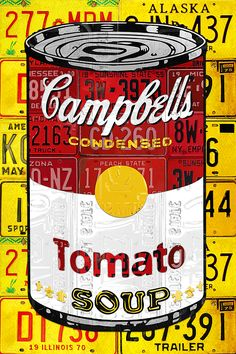 Campbells Tomato Soup Can Recycled License Plate Art