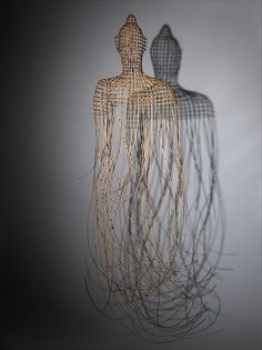 """""""Buddha 2""""-Contemporary Cambodian artist Sopheap Pich exhibited at the MET with ten pieces incorporating rattan and bamboo. His sculptures consciously embody his memories of Cambodian culture and place."""