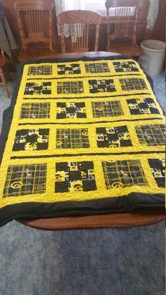 5 Iowa Hawkeyes University Of Iowa Crochet Afghan