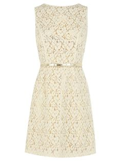 Warehouse Contrast Lace Dress, Cream. More in the LUSCIOUS SHOP: http://mylusciouslife.com/shop/