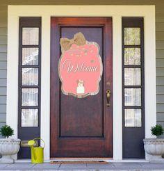 Spring Mason Jar Door Hanger