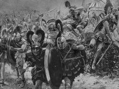 I chose this picture to represent the Battle of Marathon of the Persian War. This victory for Athenian forces paved the way for the cultural development of Greece.