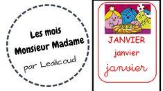 Les mois Monsieur Madame - Maitresse Aurel Monsieur Madame, Education, Learning, Reading, Kids Learning, Billboard, Studying, Teaching